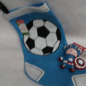 Soccer stocking marvel christmas tree ornament NWT